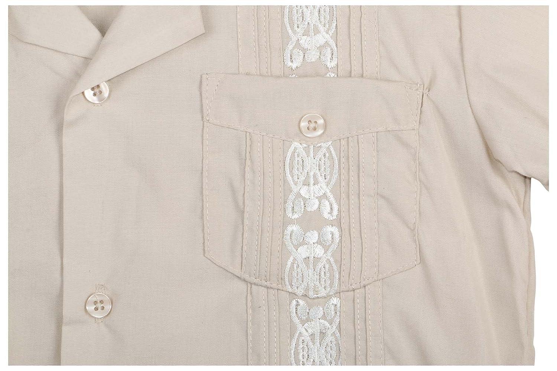 9 Crowns Essentials Boys Guayabera Button Down Shirt