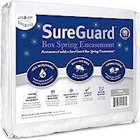 SureGuard Box Spring Encasement - 100% Waterproof, Bed Bug Proof, Hypoallergenic - Premium Zippered Six-Sided Cover - 10 Year Warranty