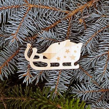 Baumschmuck Weihnachtsmotive Baumbehang   Deko Aus Holz Für Weihnachten,  Weihnachtsschmuck:Schlitten