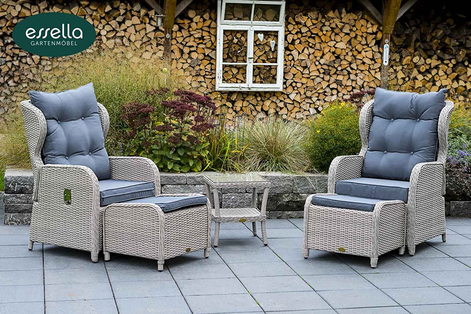 polyrattan lounge panama 2 personen rundgeflecht vintage weiss gartenm bel terassenm bel. Black Bedroom Furniture Sets. Home Design Ideas