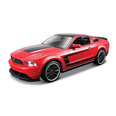 Maisto 1:24 Scale Assembly Line 2012 Ford Mustang Boss 302 Diecast Model Kit (Colors May Vary): Toys & Games
