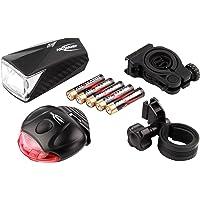 ANSMANN LiteRider StVZO Fahrradlicht LED Beleuchtungsset mit Frontlicht & Rücklicht - Fahrradlampe batteriebetrieben - zugelassen & abnehmbar - Beleuchtung für Fahrrad, Mountainbike, eBike, Rennrad
