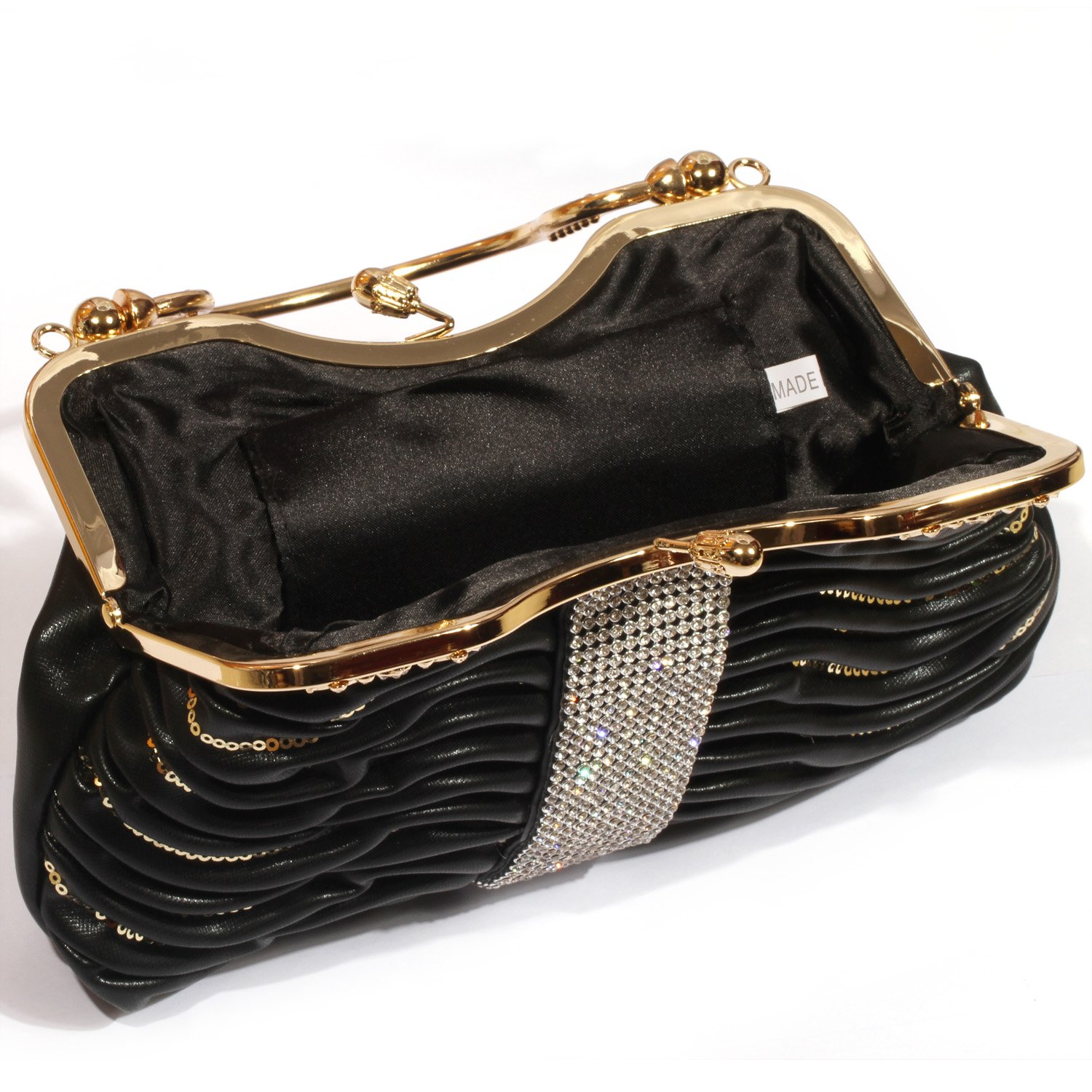 3a84b7f59d Digabi Sequins Overlay c Evening Handbags women Crystal Evening Clutch Bags  (One Size   10.5x9x2 IN  Amazon.in  Shoes   Handbags