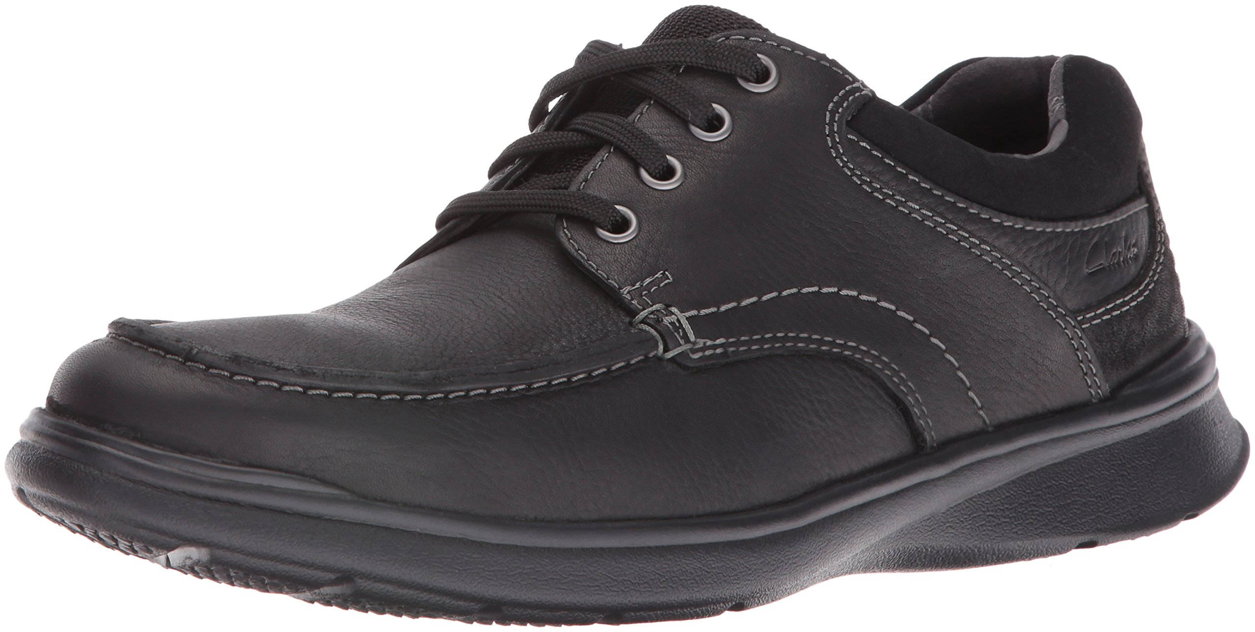 CLARKS Men's Cotrell Edge Oxford, Black Oily Leather, 8.5 M US by CLARKS