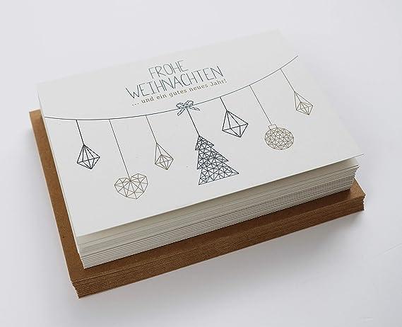 passender Umschlag 20 St/ück Blau Modern Design Freunde /& gesch/äftlich Edel Weihnachtskarten-Set Klappkarten mit Umschlag Set F/ür Familie 4 Motive Weihnachtskarten mit Umschl/ägen
