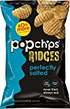 Popchips Ridged Potato Chips, Salted Potato Chips, 12 Count (5 oz Bags), Gluten Free, Low Fat, No Artificial Flavoring, Kosher