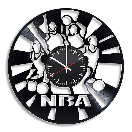 Art League House Reloj de Pared de Baloncesto de Vinilo, diseño de ...