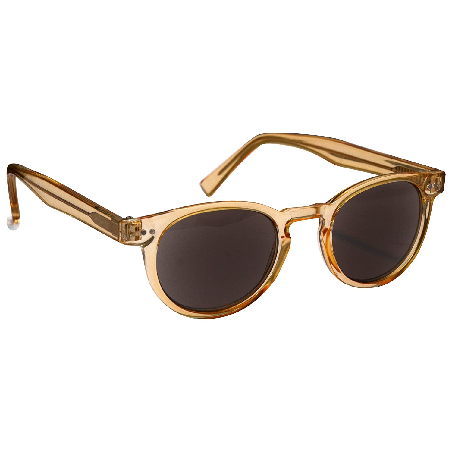 1.50 The Reading Glasses Company Transparent Gold Sun Readers Womens Mens Inc Case UVSR089 Strength