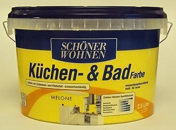 2,5 L Schöner Wohnen Küchen- u. Badfarbe, Melone Matt: Amazon.de ...