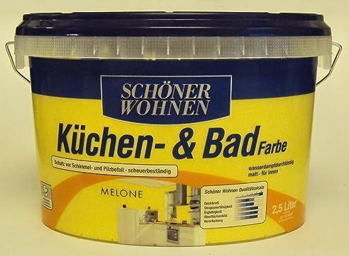 2,5 L Schöner Wohnen Küchen- U. Badfarbe, Melone Matt: Amazon.De