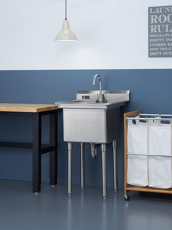Amazon.com - Trinity TSL-0301 Stainless Steel Utility Sink -