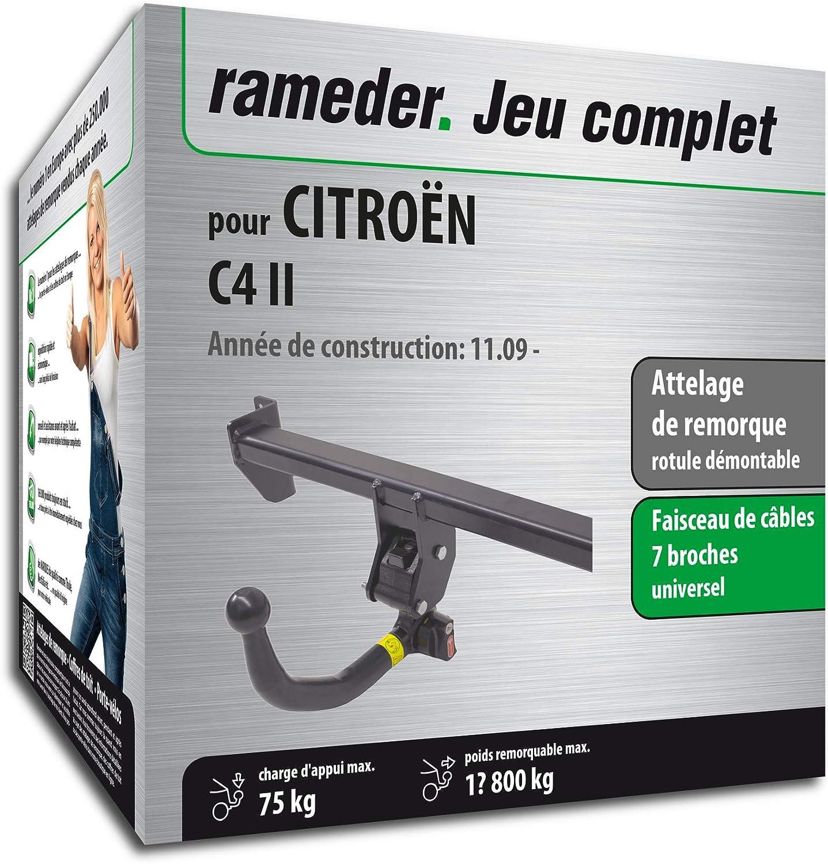 faisceau 7 broches Attelage Amovible pour CITRO/ËN C4 II 143507-09006-1-FR