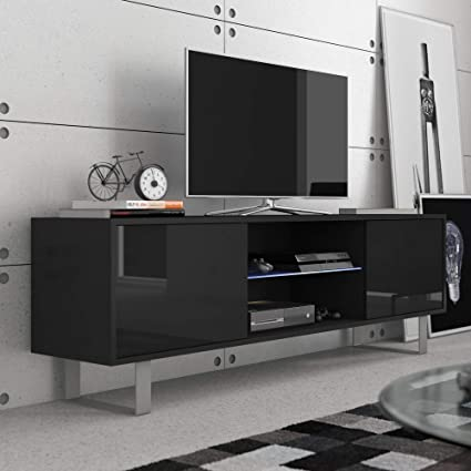 Amazon Com Furniture Agency King High Gloss Tv Stand Led Multiple