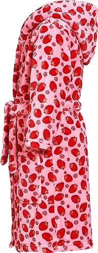 Morgenmantel Erdbeeren Capo dAbbigliamento Bambina Playshoes Kuschelweicher Fleece-Bademantel