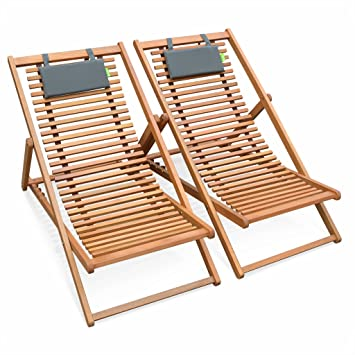 Alice\'s Garden - Slatted wood deck chairs - Bilbao - 2 FSC ...