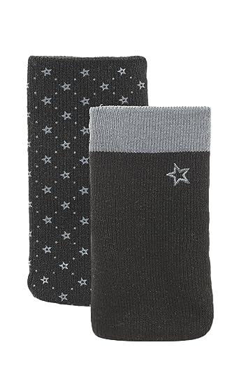 632759bd09c Modelabs DUALSOCKS3 - Set de 2 calcetines para teléfono móvil en color  gris/negro: Amazon.es: Electrónica