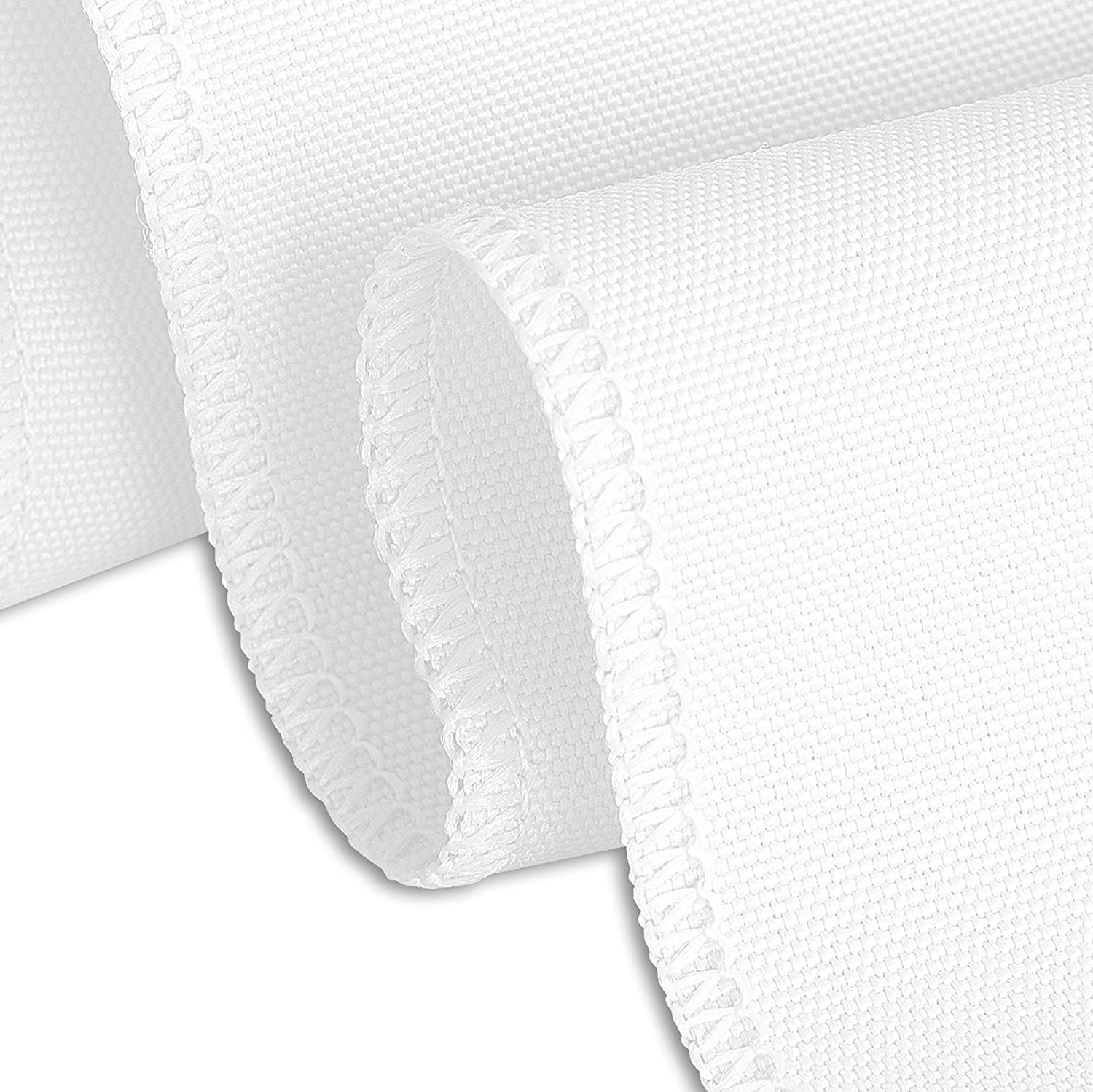 White, 4 LinenTablecloth 90 x 132-Inch Rectangular Polyester Tablecloths