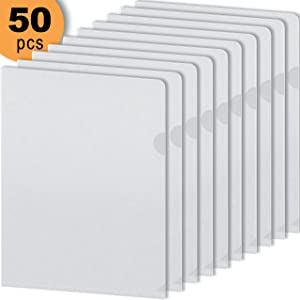 DEKIRU Plastic File Folders - L Type (50 Packs) Clear • Pocket Folder • Poly Office Folders Transparent • Project Plastic Envelopes • Paper Organizer Folder Waterproof • Document Folder • 8.5 x 11""