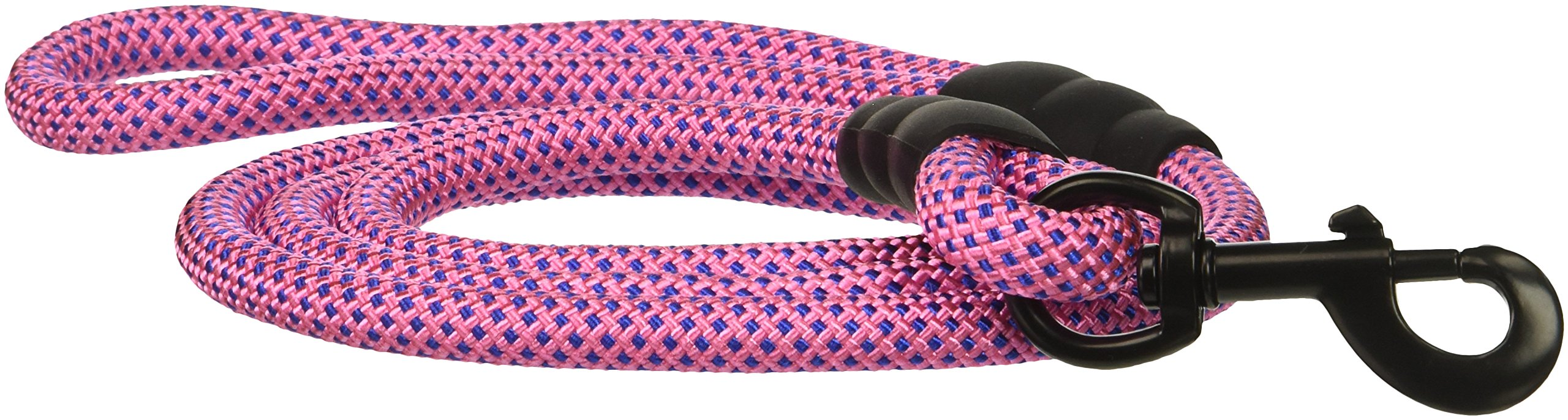 PetsCare Dog Leash Rope Quality Extra Thick Nylon Rope, Soft Handle and Light Weight Pet Training Lead, for Medium/Large Dogs, Black