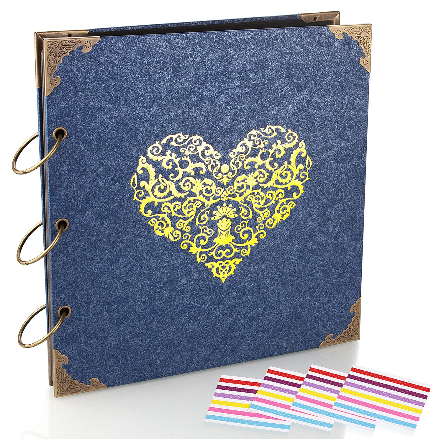 Black ADVcer 10 Sheets Double Sided 9.84 x 10.24 inch Refill Pages Thick Additional Craft Paper Cardboard for 10x10 inch Three-Ring Loose-Leaf Binder Heart-Shaped Photo Album and DIY Scrapbook