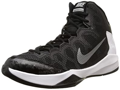 6435b80fb93ec9 Nike Mens Zoom Without A Doubt Black Mtllc Slvr Flt Slvr Chrm Basketball