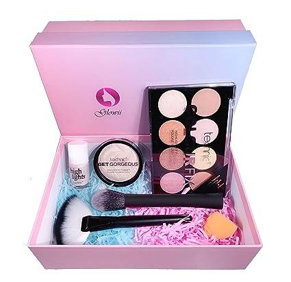 Caja de belleza/set de regalo de maquillaje: polvo de resaltado ...