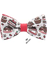 Bow Tie House Birthday cakes bow tie pattern unisex pre-tied shape