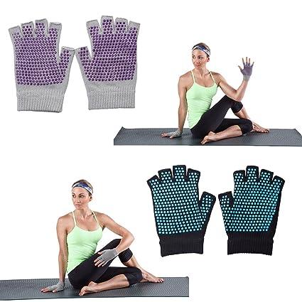 Amazon.com : Non-slip Yoga Gloves & Socks Combo (Black ...