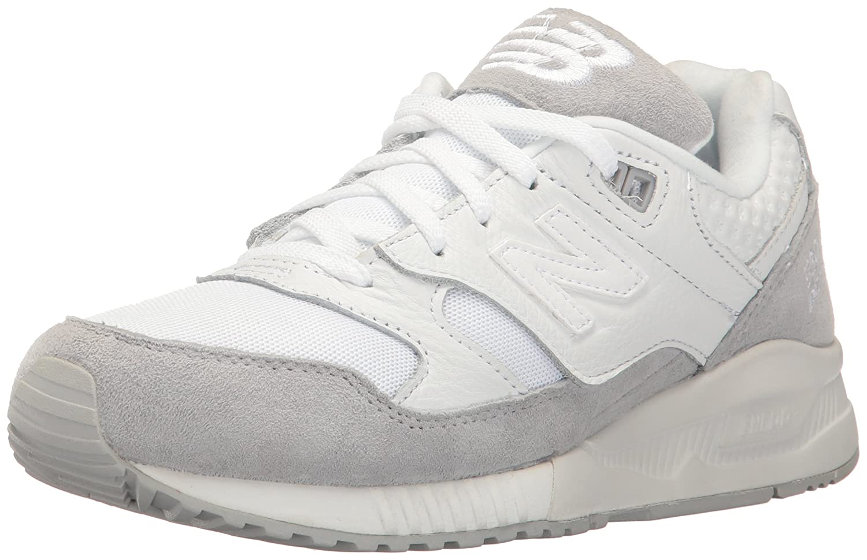 New Balance Women's 530 90s Running Lifestyle Fashion Sneaker B01LYBQELV 9 B(M) US|White/Silver Mink