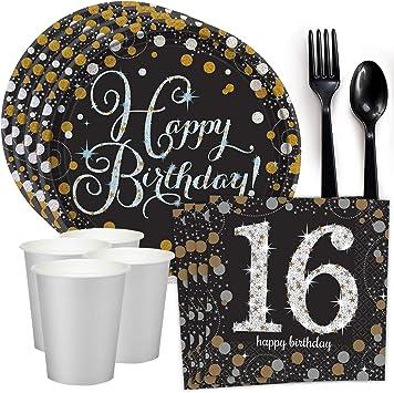 8 Sweet 16TH Cumpleaños Fiesta Vajilla Platos