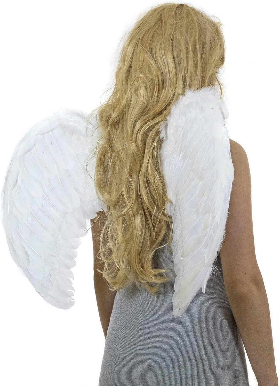 blanc Child Bennyuesdfd Ailes dange en plumes Costume de f/ête dHalloween//d/écoration de No/ël