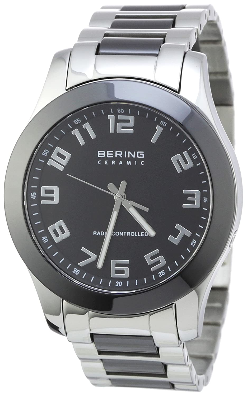Bering Time Radio-Controlled 33041-742 - Reloj analógico de Cuarzo para Hombre, Correa de Diversos Materiales (Radio, Agujas luminiscentes)