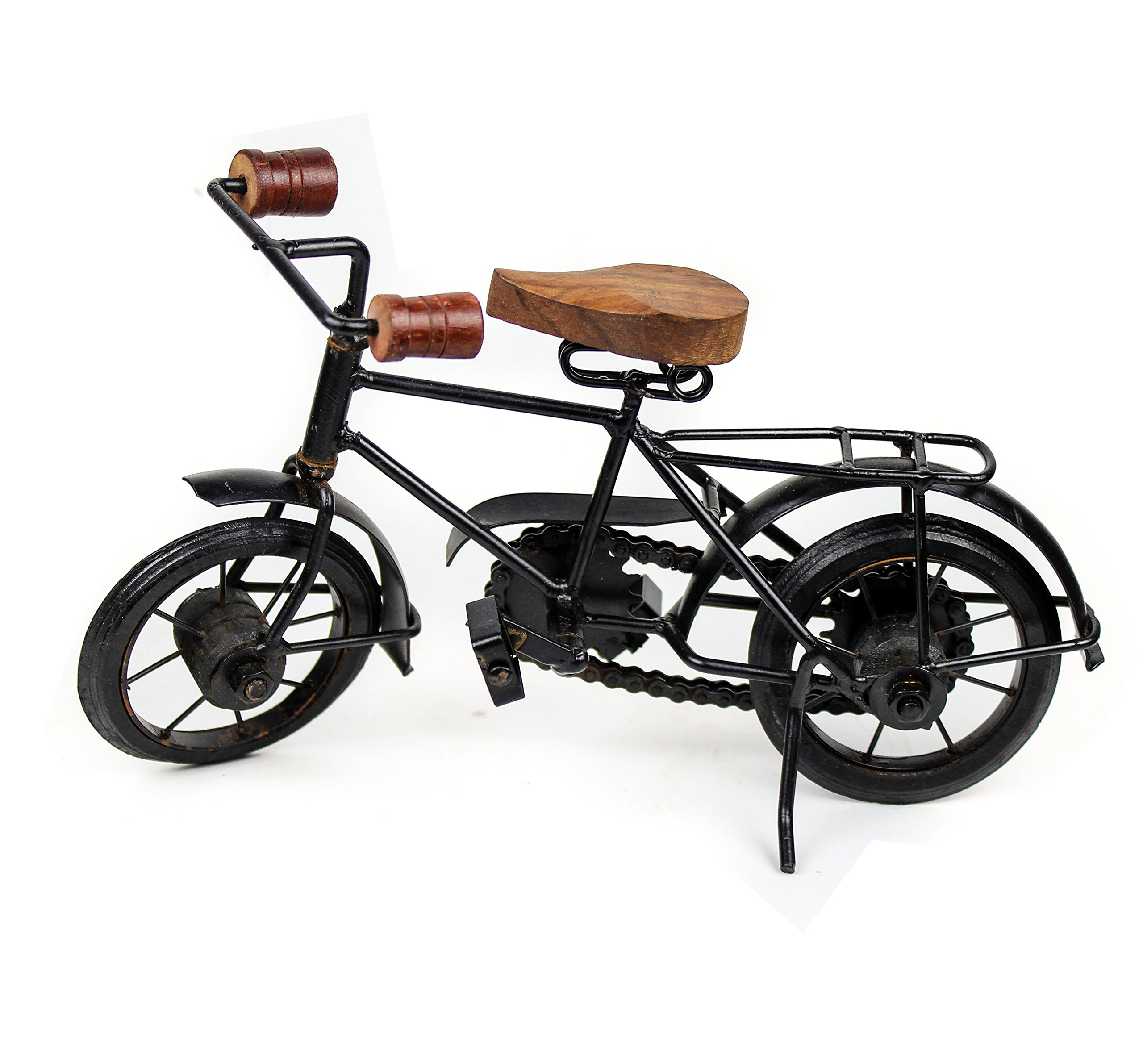 Nagina International Home Decor Iron Metal Crafted Beautiful Finger Bike | Table Decor Gifts Vehicle | Games Toy Cycle (Postman)
