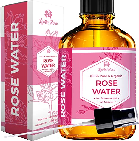 Rose Water Facial Toner by Leven Rose, Pure Organic Natural Moroccan  Rosewater Hydrosol Face Spray 118 ml: Amazon.ca: Beauty