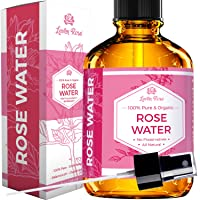 Rose Water Facial Toner by Leven Rose, Pure Natural Moroccan Rosewater Hydrosol...