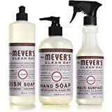 Mrs. Meyer's Clean Day Kitchen Essentials Set, Includes: Hand Soap, Dish Soap, and Multi-Surface Cleaner, Lavender Scent, 3 C