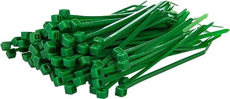 Gocableties 100 Stück Kabelbinder Grün 100 Mm X 2 5 Mm Premiumqualität Uv Beständiges Set Baumarkt