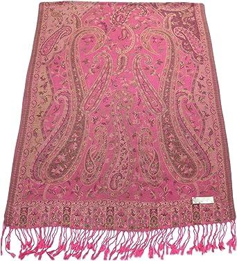 CJ ropa Pink bangong Design 2 capas Reversible Chal Bufanda Pashmina segundos Nuevo
