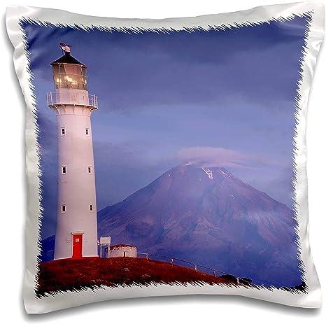 Amazon Com 3drose Danita Delimont New Zealand New Zealand Pungarehu Cape Egmont Lighthouse And Mt Taranaki 16x16 Inch Pillow Case Pc 312956 1 Kitchen Dining