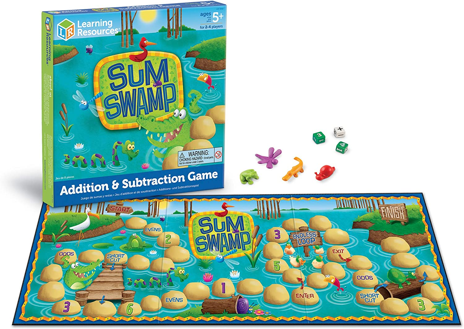 Learning resources sum swamp game board game for dyslexia