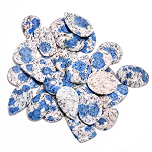 Gemkora K2 Jasper Gemstone Slices Wholesale Cabochons Lot, Jewelry Making Loose Gemstone, Polished Home Decor Specimen, DIY, Wire Wrapping, Reiki, Healing Crystals, Bulk Gemstone Deal 100 carats