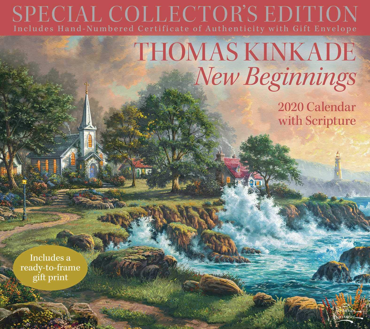 thomas kinkade special collectors edition with scripture 2020 deluxe wall calen