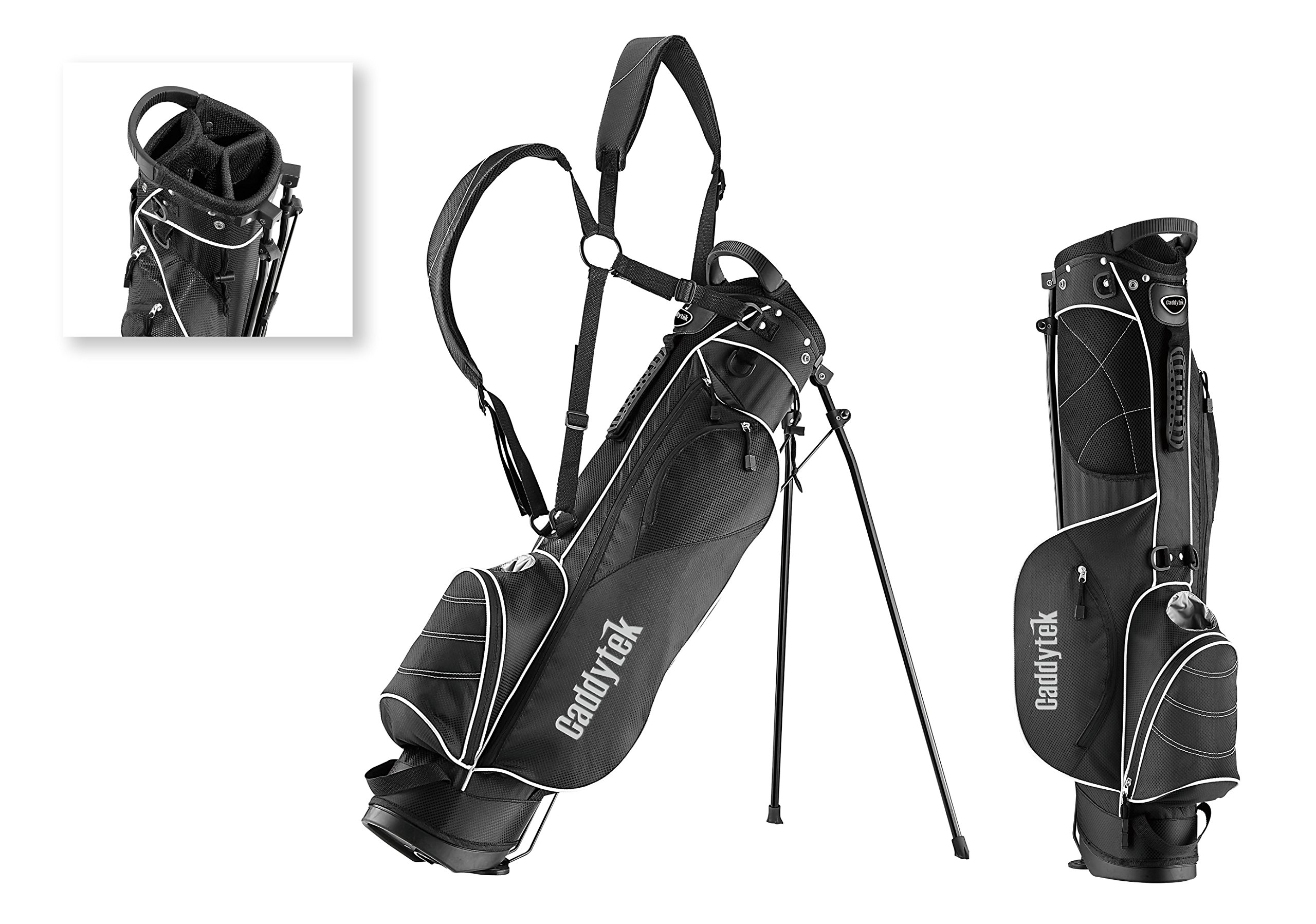 CaddyTek Deluxe Sunday Carry Bag with Stand