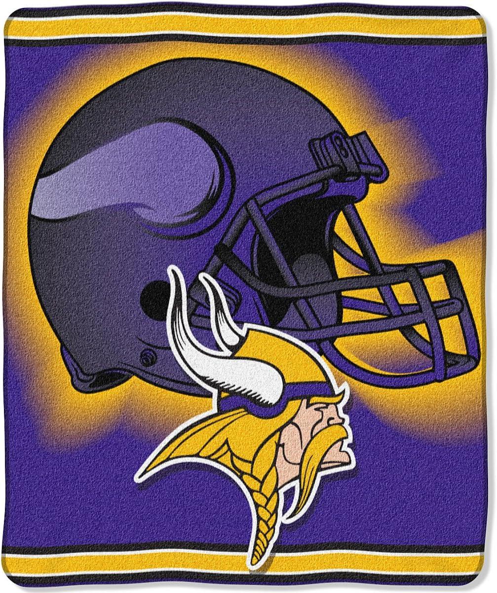 Bedding Sporting Goods Minnesota Vikings 50x60 Raschel Throw ...