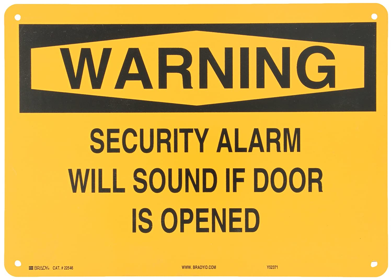 Amazon.com: 22546 Brady – cartel para puerta de plástico, 10 ...