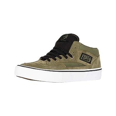 5fca951b1d6 Vans Half Cab Pro Winter Moss Green Black Skate Shoes  Amazon.co.uk  Shoes    Bags