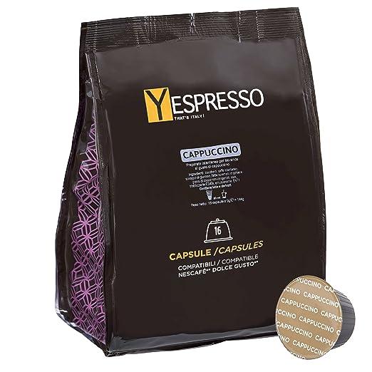 44 opinioni per Yespresso Capsule Cappuccino Compatibili per Nescafe Dolce Gusto- Confezione da