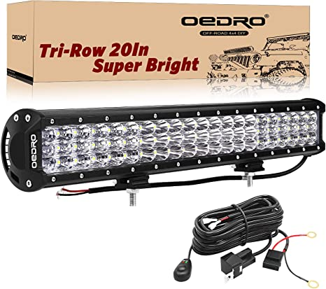 LED Light Bar Wiring Harness OEDRO 300W 20Inch Tri-Rows LED Light Pod on security led lighting, computer led lighting, wiring kitchen lighting, linear led lighting, wiring lighting fixtures, electrical led lighting, wood led lighting, inverter led lighting, wiring track lighting, kitchen led lighting, installing led lighting, commercial led lighting, wiring ceiling lighting, blue led lighting, filter led lighting, safety led lighting, battery led lighting, interior led lighting, industrial led lighting, cable led lighting,