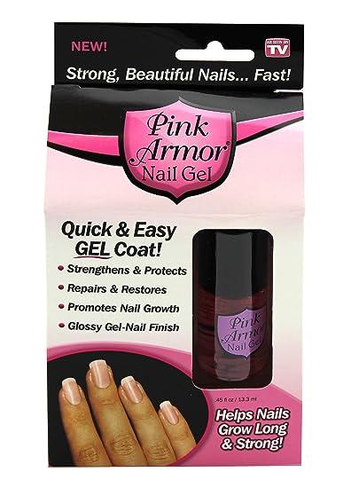 Amazon.com : Pink Armor Nail Growth Formula Treatments, 0.45 Fluid ...