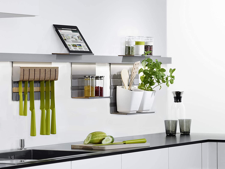 LINERO MosaiQ Starterset MAXI Küchen-Reling-Set Wand-Montage